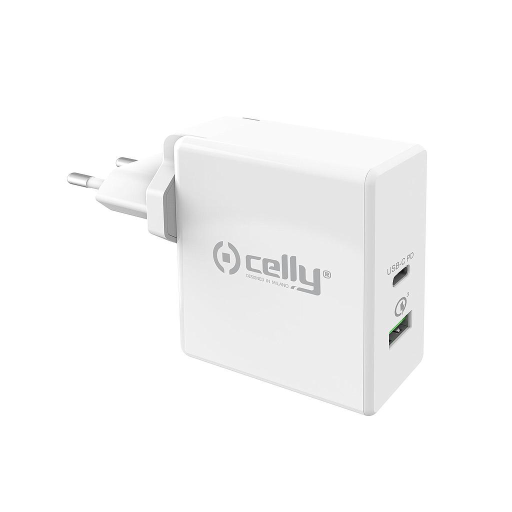 Caricabatteria Celly wall charger Pro Power TCUSBC30WWH